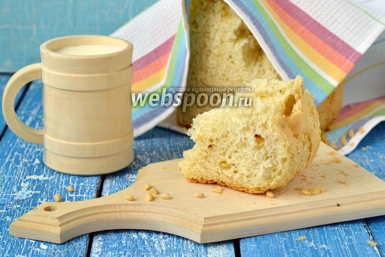 Фото Французский хлеб с кедровыми орешками в хлебопечке