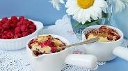 Фото рецепта Клафути с малиной