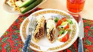 Фото рецепта Пирожки из лаваша в духовке с фаршем