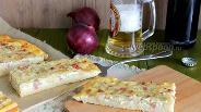 Фото рецепта Немецкий луковый кухен