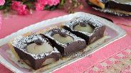 Фото рецепта Шоколадный пирог с грушами