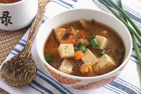 Мисо суп на креветочном бульоне