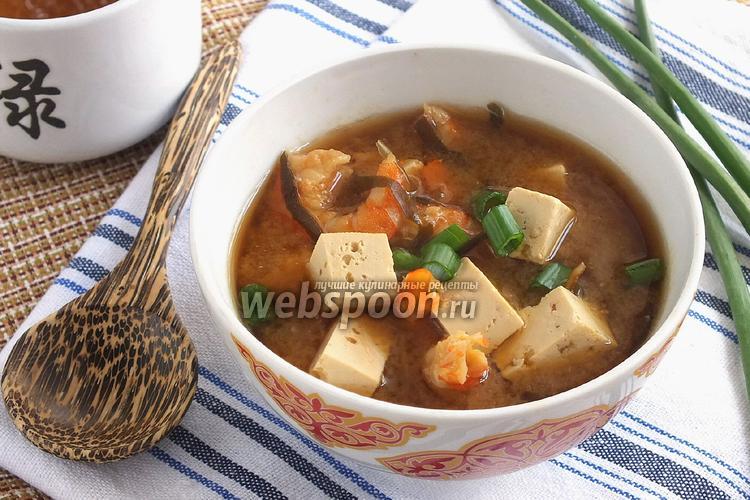 Фото Мисо суп на креветочном бульоне