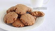 Фото рецепта Рассыпчатое шоколадное печенье на оливковом масле