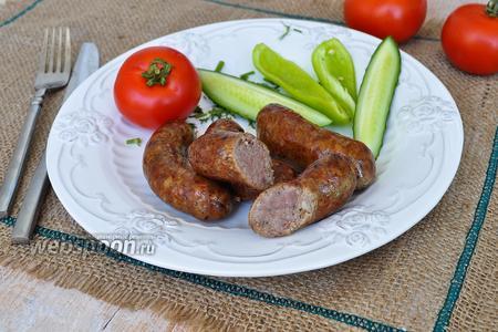 Колбаски домашние на гриле