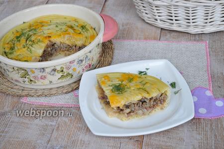 Фото рецепта Тимбаль с мясным фаршем