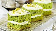 Фото рецепта Ванильно-шпинатные пирожные