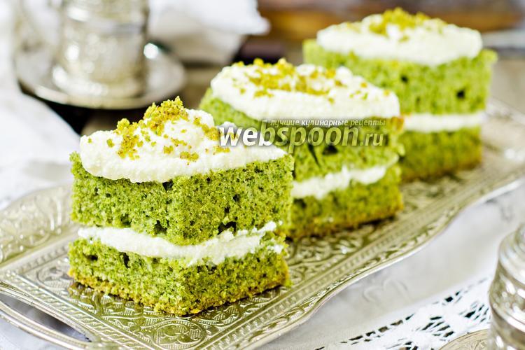 Фото Ванильно-шпинатные пирожные