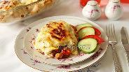 Фото рецепта Мешочки из лаваша с мясом и овощами под соусом бешамель