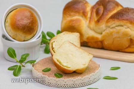 Хлеб на мучной заварке с сыром Фета