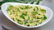 Фото рецепта Тёплый салат из пасты ризони и цуккини