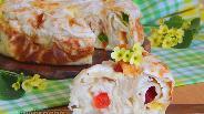 Фото рецепта Творожная запеканка с цукатами в лаваше
