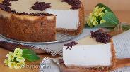 Фото рецепта Сырник с кремом из ряженки