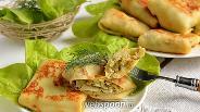 Фото рецепта Блины с начинкой из молодой капусты, яиц и белых грибов