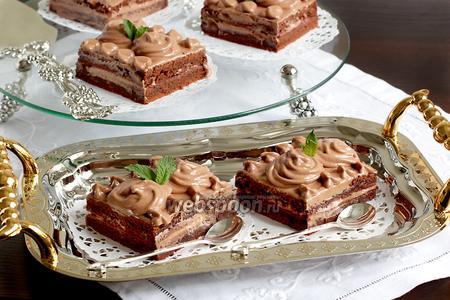 Кофейно-шоколадные пирожные без яиц