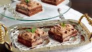 Фото рецепта Кофейно-шоколадные пирожные без яиц