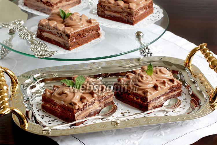 Фото Кофейно-шоколадные пирожные без яиц
