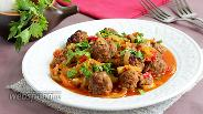 Фото рецепта Фрикадельки в овощном соусе
