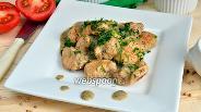 Фото рецепта Филе индейки в сливочном соусе