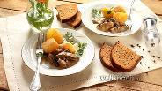 Фото рецепта Бефстроганов из печени