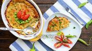 Фото рецепта Запеканка из кабачка и молодого зелёного горошка