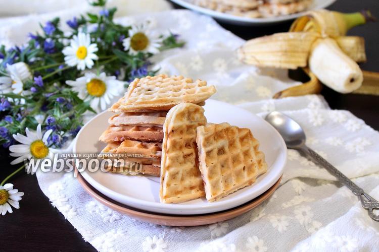 Фото Овсяные вафли с бананами