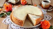 Фото рецепта Пирог с маком и сливочной заливкой