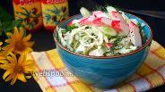 Фото рецепта Салат из капусты с крабовыми палочками