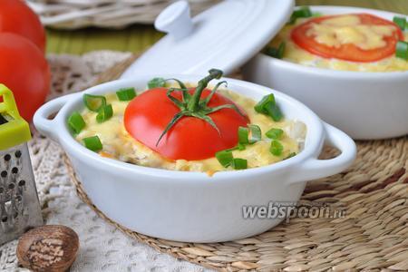 Фото рецепта Запеканка перловая с курицей и маслинами