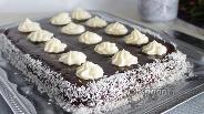 Фото рецепта Быстрый шоколадный кухен без яиц