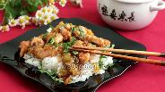 Фото рецепта Курица в кунжутном соусе