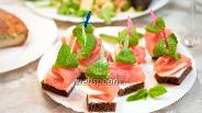 Фото рецепта Закуска из сёмги с мятой