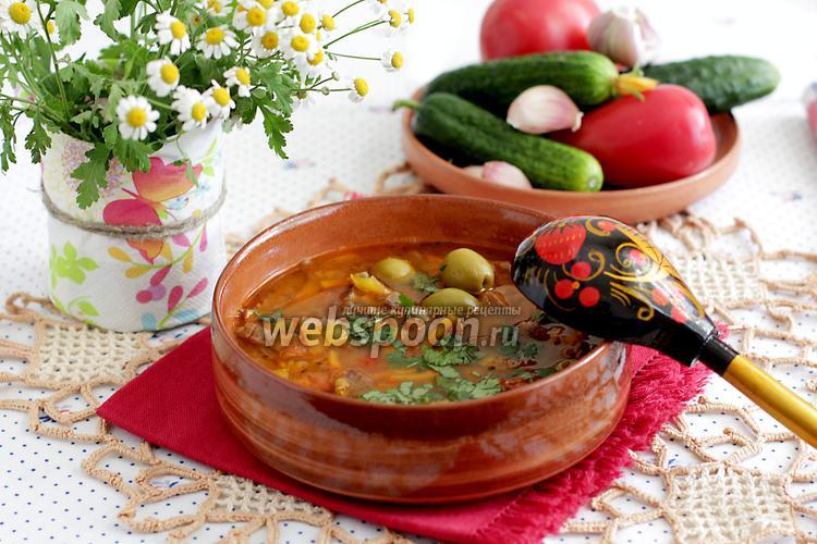 Фото Чечевичный суп с говядиной