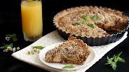 Фото рецепта Миндальный пирог с нектаринами