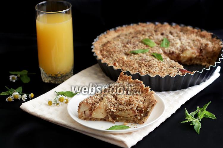 Фото Миндальный пирог с нектаринами