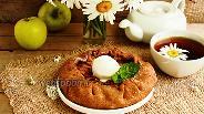 Фото рецепта Яблочная галета (постная)