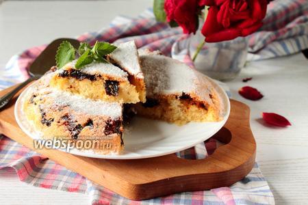 Кекс-пирог с карамелизованным черносливом