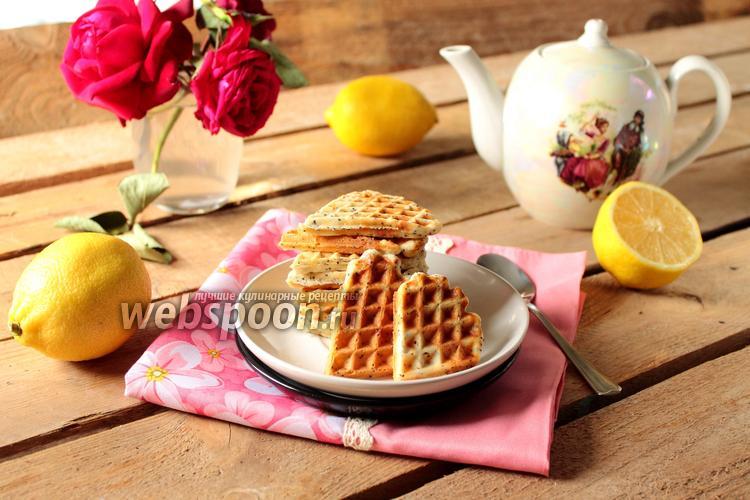 Фото Лимонные вафли с маком