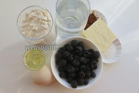 Компоненты для теста — 2 стакана муки, стакан воды, яйцо, соль, 2 столовые ложки сахара, 2 столовые ложки масла, все для начинки - сахар по вкусу, малина, шоколад.