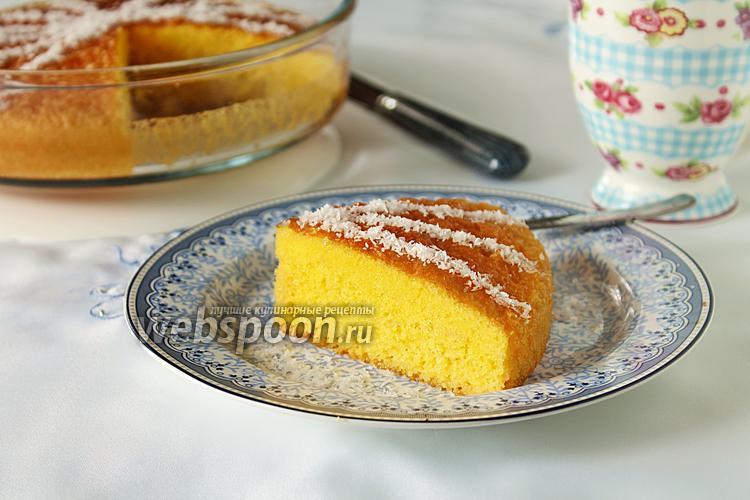 Фото Влажный молочный кекс