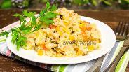 Фото рецепта Бурый рис с цукини в мультиварке