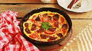 Фото рецепта Омлет с вялеными и свежими томатами