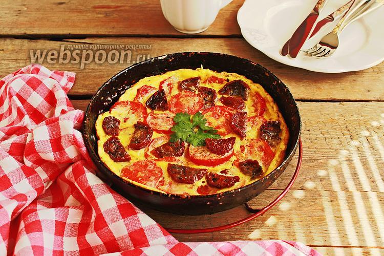 Фото Омлет с вялеными и свежими томатами