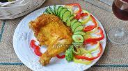 Фото рецепта Куриные окорочка в хрустящей панировке в мультипечи