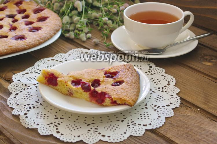 Фото Вишнёвый пирог на желтках