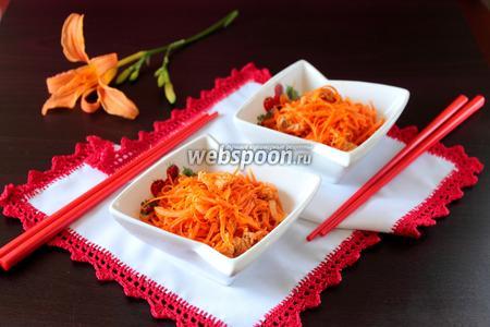 Хе из горбуши с морковью по-корейски