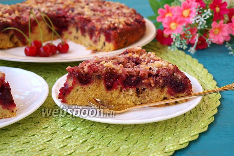 Фото Вишнёвый пирог с шоколадом