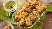 Фото рецепта Жареный огурец с сыром и чесноком