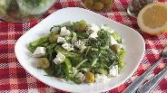 Фото рецепта Зелёный салат с сербской брынзой