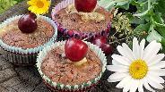 Фото рецепта Шоколадные маффины с сыром бри